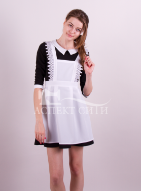 Школьное черное платье 184