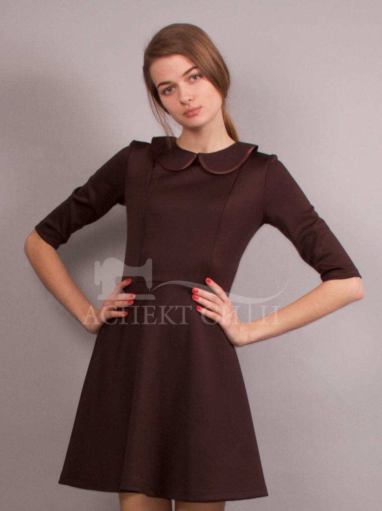 Школьные платья коричневые