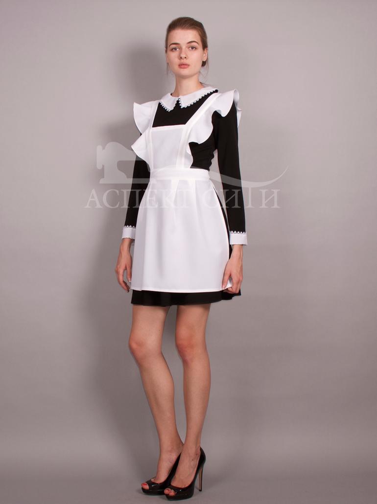 Школьное черное платье 82